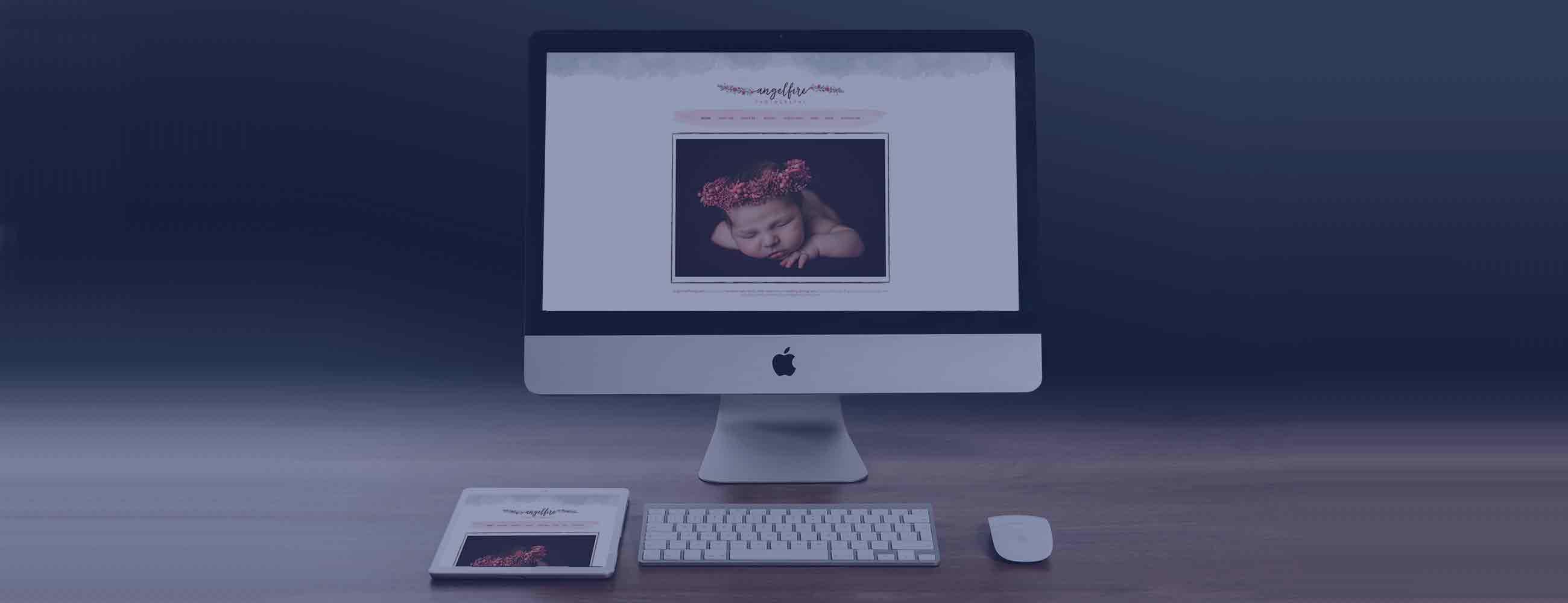 Custom Wordpress design for Angelfire Photography
