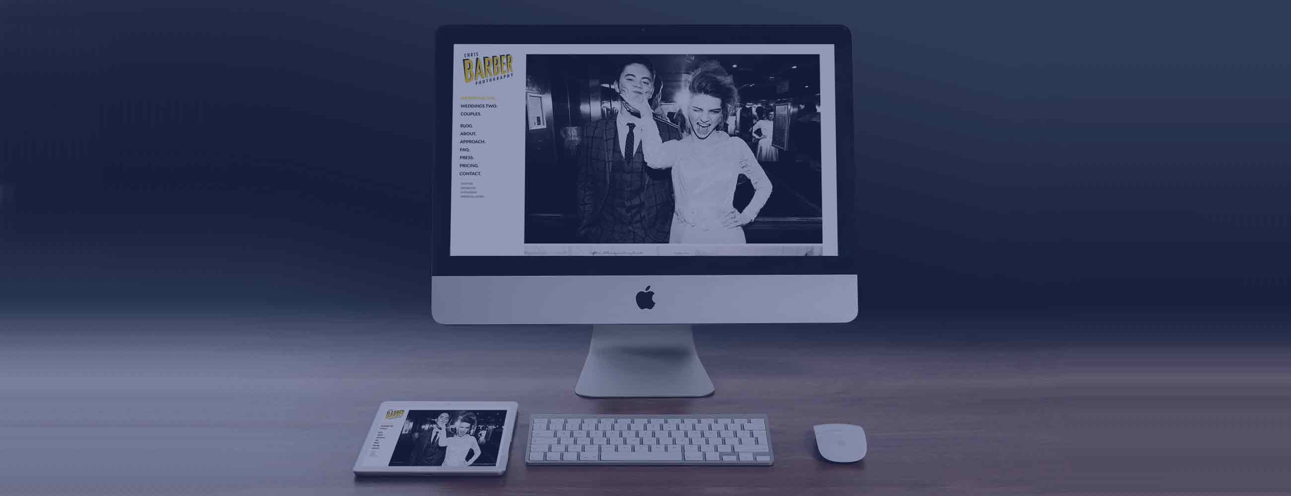 Bespoke Wordpress theme for Chris Barber Photography