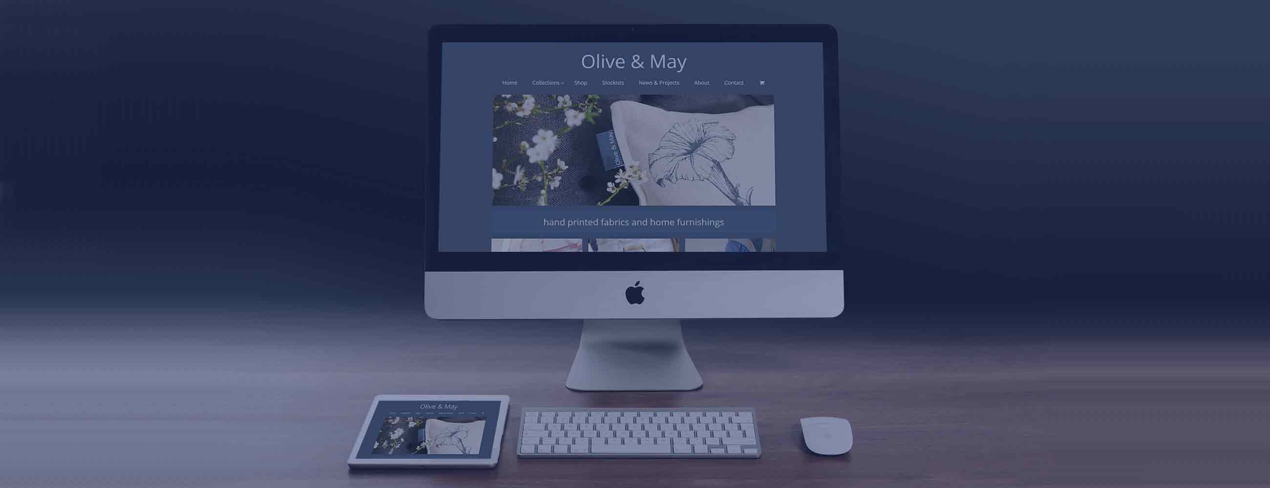 Olive and May Wordpress Shop design