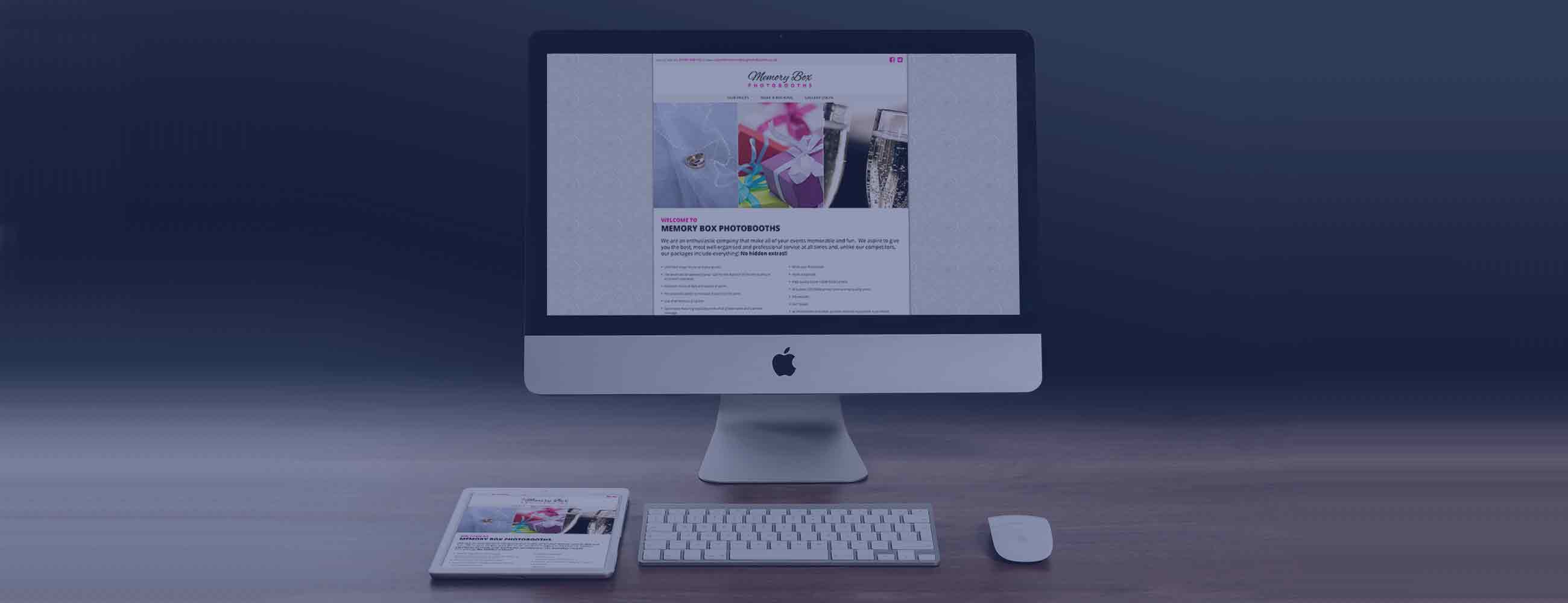 Web Design - Memorybox Photobooths